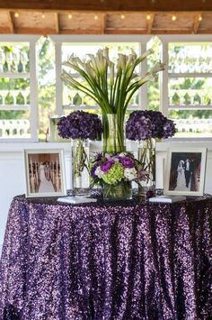 Photographer: Allyson Wiley Photography; Wedding reception centerpiece and color idea;