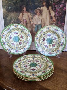 Royal Worcester SET 11 Pink Roses Porcelain Dinner Plates z819 GREAT SALE PRICE #RoyalWorcester
