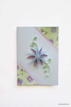 Pastel Flower Quilling Card Quilling Birthday by GermanistikArt