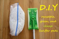 Make Your Own Swiffer Sweeper Pads + Solution