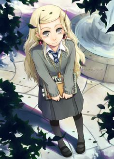 Luna Lovegood at her finest. They even put the radish like earrings on her! Luna Lovegood at her finest. They even put the radish like earrings on her! Harry Potter Anime, Harry Potter Fan Art, James Potter, Harry Potter Characters, Harry Potter Universal, Harry Potter Fandom, Harry Potter World, Luna From Harry Potter, Luna Lovegood
