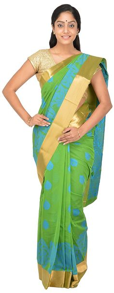 POTHYS Women's Silk Cotton Saree (PDS569, Green Colour): Amazon : Clothing & Accessories  http://www.amazon.in/gp/product/B0166XFVXU/ref=as_li_tl?ie=UTF8&camp=3626&creative=24822&creativeASIN=B0166XFVXU&linkCode=as2&tag=onlishopind05-21  #Pothys #Silk #Sarees