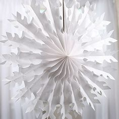 Set of 6 Large 22 Inch Hanging Snowflake Tissue Fans for ... https://smile.amazon.com/dp/B01MDU1ODS/ref=cm_sw_r_pi_dp_x_0FIpybBHNVATS