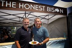 Barry Saven, President, Gourmet Celebrations, with Sean Lenihan, founder of the Honest Bison.