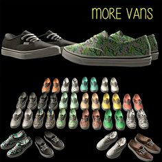 Deco Vans • Mesh by Pixicat • Recolors by @riekus13 • 1766 poly • 19 swatches Download