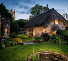This Cottage Is as Close to Magical as You Can Get This countryside cottage proves you don't have to be Harry Potter to have a mystical, storybook getaway in England. Called the Faerie Door, this beautiful rental is oozing woodland charm. Storybook Homes, Storybook Cottage, Stone Cottages, Cabins And Cottages, Little Cottages, English Country Cottages, English Countryside, Cute Cottage, Cottage Style