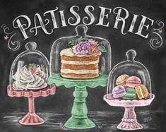 Resultado de imagem para bakery drawing chalk