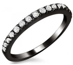 .40ct VS Round Diamond Prong Set Wedding Band Ring 18k Black Gold - Wedding Ring!