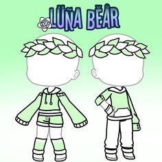 "A imagem pode conter: texto que diz ""LUNA BEAR"" The clothing culture is quite old. Bad Girl Outfits, Couple Outfits, Club Outfits, Couple Clothes, Manga Clothes, Drawing Clothes, Kawaii Drawings, Cute Drawings, Ropa Color Pastel"