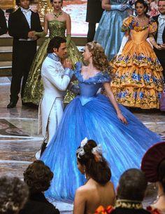 """Lily James and Richard Madden in """"Cinderella"""" Cinderella Live Action, Cinderella Disney, Disney Live, Disney Princess Dresses, Cinderella Dresses, Disney Magic, Cinderella Princess, Princess Aurora, Princess Bubblegum"""