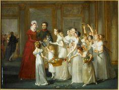 Pauline Auzou, née Desmarquets, The arrival of empress Marie-Louise at Compiègne on 28th March 1810, 1810