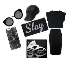 """""""SLAY"""" by kaleaadams-1 ❤ liked on Polyvore featuring NIKE, Alexander McQueen, adidas Originals, Vianel, Quay and Casetify"""