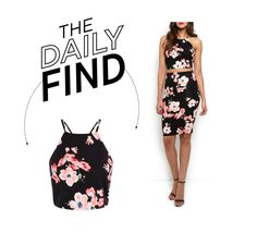 """""""Daily Find: New Look Floral Crop Top"""" by polyvore-editorial ❤ liked on Polyvore featuring DailyFind"""