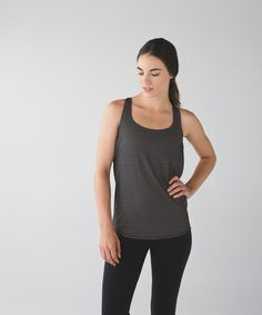 We designed this sweat-wicking tank with a draped open back so you can keep cool in class—and show off the strappy bra underneath. Low-cut armholes give you room to move and freedom to focus on your Hatha, Hot or Vinyasa Flow practice.