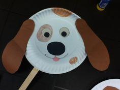 animal crafts for kids paper plates animal craft ideas - puppy dot - kids craft Paper Plate Art, Paper Plate Animals, Paper Plate Crafts For Kids, Animal Crafts For Kids, Paper Plates, Art For Kids, Art Children, Young Children, Daycare Crafts