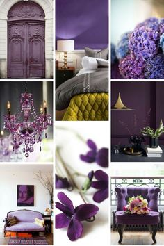 Furnish with the Ultra Violet Color Trends 2018, 2018 Color, Salons Violet, 2018 Interior Design Trends, Ultraviolet Color, Color Plan, Purple Interior, Purple Christmas, Purple Reign