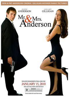 Mr. & Mrs. Smith style wedding invitation