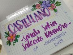 Bullet Journal Titles, My Notebook, Brush Lettering, Lily, School, Makeup, Creative, Decorated Notebooks, Sketchbooks