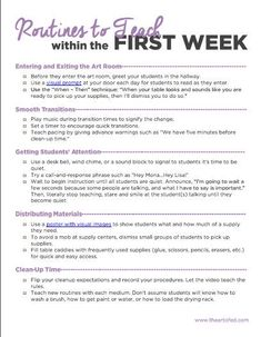 First Day Activities for the Elementary Art Room - The Art of Ed Elementary Art Rooms, Art Lessons Elementary, Elementary Schools, Teaching Elementary Art, Art Education Lessons, Education System, Teacher Tools, Teacher Hacks, Teacher Resources