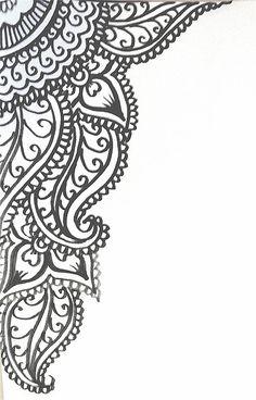 sketch for wedding invitation graphic by HennaLounge, via Flickr