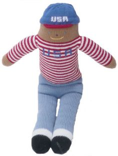 "custom knit doll - this will certainly keep your little one happy at the next ""must attend"" holiday picnic"