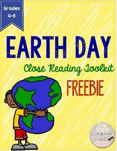 Earth Day Close Reading Toolkit FREEBIE | by Erin Beers from Mrs Beers Language Arts Class