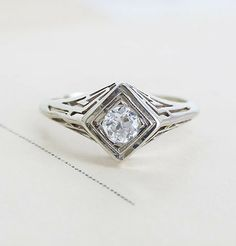 Labyrinth Filigree .28ct Diamond Engagement Ring, $1,200.00