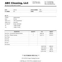 Printable Cleaning Service Receipts Cleaning Invoice Template - Create a fake invoice for service business
