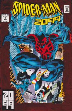 Spider-Man 2099 #1 Origin Story of Spider-Man 2099 (Miguel O'Hara) Red Foil Cover And Pencils By Rick Leonardi  / Peter David Story