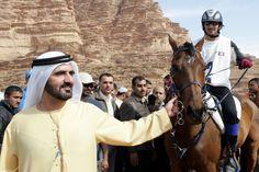 Mohammed bin Rashid bin Saeed Al Maktoum y su hijo, Rashid bin Mohammed bin Rashid Al Maktoum