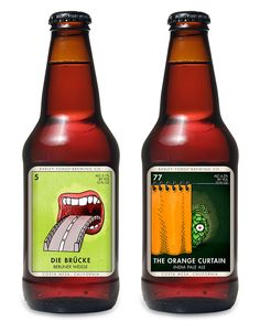 The labels for Costa Mesa, CA's Barley Forge Brewing Co. were inspired by the Mexican card game Loteria and designed by brewery co-founder Dave Stolte. Food Packaging Design, Bottle Packaging, Coffee Packaging, Beer Brewing, Home Brewing, Beer Label Design, Beers Of The World, Brewing Equipment, Beer Brands
