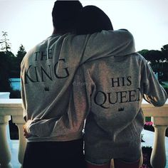 Fashion Couple King And Queen Love Matching Hoodie Couple Tee Tops 35Di