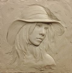 mid relief clay sculpture titled Summer by Sutton Betti