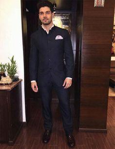 dark blue Raghavendra Rathore suit