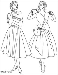 nicoles free coloring pages vintage fashion coloring pages
