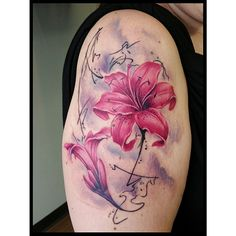 #longlifeaftercare #watercolor #watercolortattoos #lily
