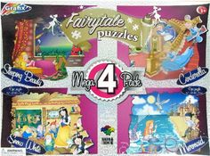 Set of 4 Fairytale 45 Piece Jigsaw Puzzles -- Be sure to check out this awesome product.
