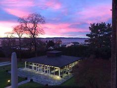 Sunset at Hotell Refsnes Gods. Norway, Moss, Jeløy. Visit Østfold, Visit Oslofjord, Dehistoriske