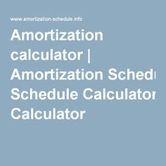 Excel-home-loan-amortization-schedule | Finance | Pinterest ...