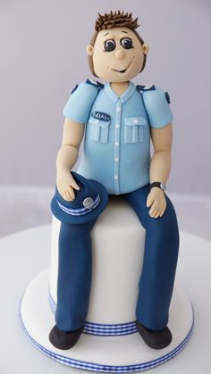 Policeman fondant figurine