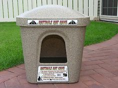 Extra Large Cat Litter Box  could also be used for outdoor cat house in winter (with padding)..  Wonder if I could rig my own from a plastic storage box