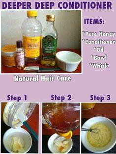 Natural hair deep conditioner