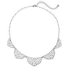 LC Lauren Conrad Graduated Filigree Scalloped Necklace