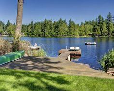 Deck extending onto the dock