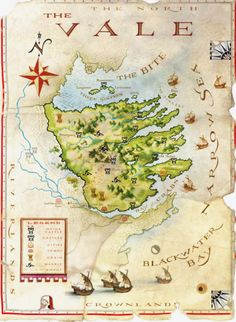 The World of Ice and Fire - Map of The Artist: Michael Gellatly Game Of Thrones Map, Westeros Map, Got Map, Fantasy World Map, Imaginary Maps, Jaime Lannister, Just A Game, Fire And Ice, Arya Stark