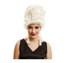Peluca de Emperatriz Antonieta con tirabuzones blanca. Perfecto complemento para nuestros disfraces de Época o Venecianos. ¡¡No te lo pienses más y compra en Disfrazzes!!
