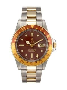 Root-beer Rolex (Rolex Stainless-Steel Yellow Gold Oyster Perpetual GMT-Master (c. 1978))