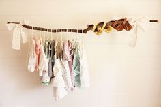 branch clothing rack.  Love this for a nursery.
