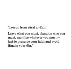 Lessons from Surah Kahf.. Al-Quran