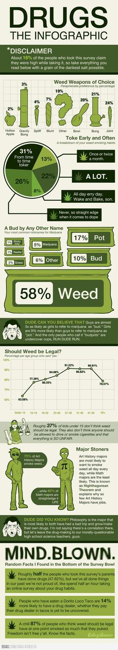 Marijuana - The Drug! Infographic